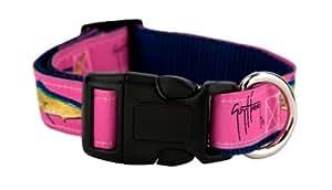 Guy Harvey Dog Collars (Pink, Small)