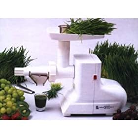 Miracle Electric Wheatgrass Juicer - The MJ 550 Miracle wheatgrass juicer is considered by many to be one of the best wheatgrass juicers on the market - Perfect for those beginner or advanced in wheat grass juicing - Enjoy all the benefits of juicing wheatgrass from home.
