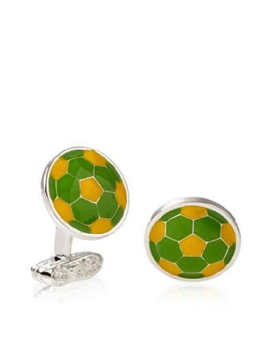 Tateossian Green Yellow Football Cufflinks As You See