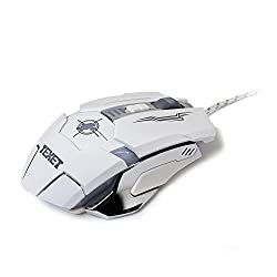Texet 3600-DPI 6-Button USB Wired Optical Gaming Mouse with LED Illumination