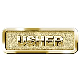 1 X Usher Badge, Brass