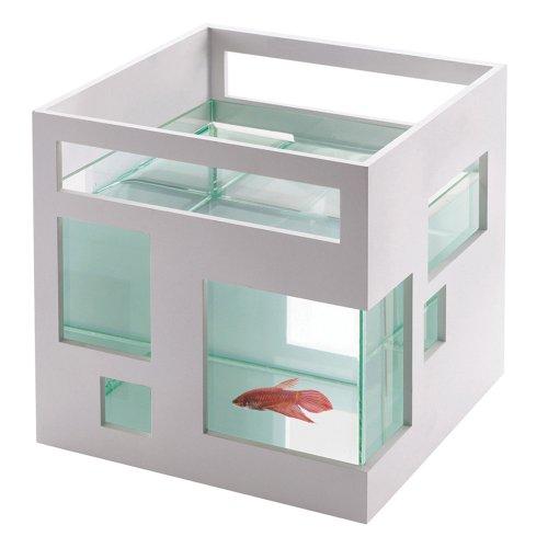 Umbra Aquarium Fischhotel Weiß