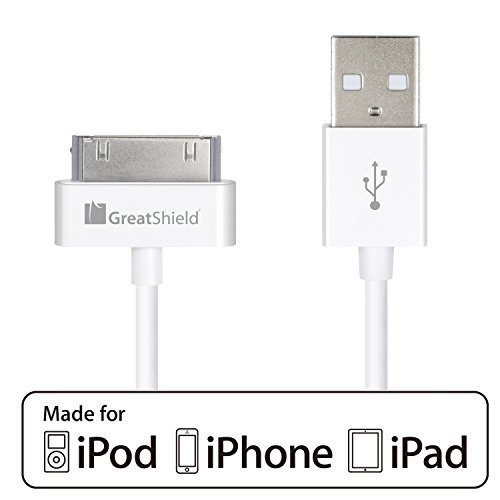GreatShield Apple MFi Licensed Lightning Charge & Sync Cable for Apple iPhone 6/6 Plus, iPhone 5/5S/5C, iPad mini Retina Display, iPad 4th Gen, iPad Air 2013, iPod Touch 5th Gen, iPod Nano 7th Gen (Includes 1-Year Warranty) (Black - 6 Feet)