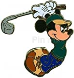 Disney Pin - Golf - Mickey Mouse - Swinging Pin 74889