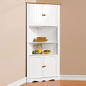 brylanehome country kitchen corner cabinet
