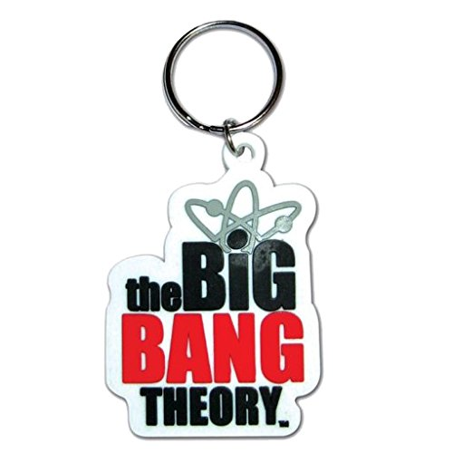 The Big Bang Theory 2D Logo Rubber Keyring - Portachiavi In Gomma