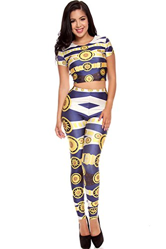 Lolli Couture Multi 2Pc Printed Jumpsuit Navy/Yellow S front-211376