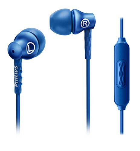0e5ef433651 Cheap Philips SHE8105BL/00 In-Ear Headphones with Microphone, 8.6 mm  Driver, Semi-closed System and Metal housing