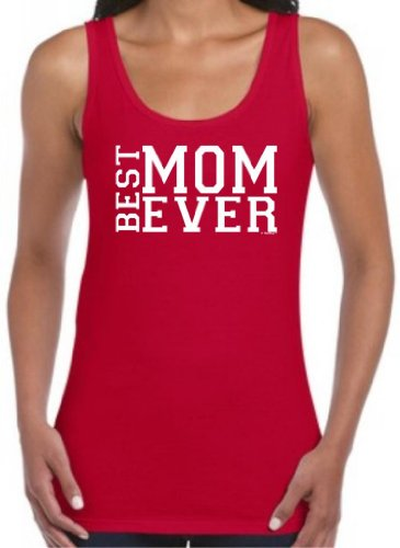 Best Mom Ever Mother'S Day Juniors Tank Top Medium Cherry Red front-959931