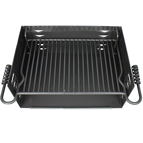 Titan-Single-Post-JUMBO-Park-Style-Grill-Charcoal-Outdoor-Heavy-Cooking-Camp