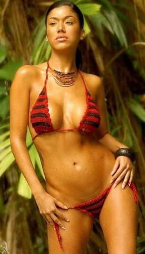 Striped Crochet Bikini