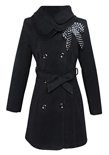 AshopZ Women's Long Winter Jacket in Vintage Style, Stand Up Collar