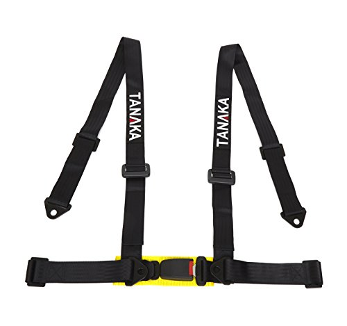 Tanaka 4-point Buckle Sports Harness Seat Belt One Set (Black) (Racing Harness 4 Point compare prices)