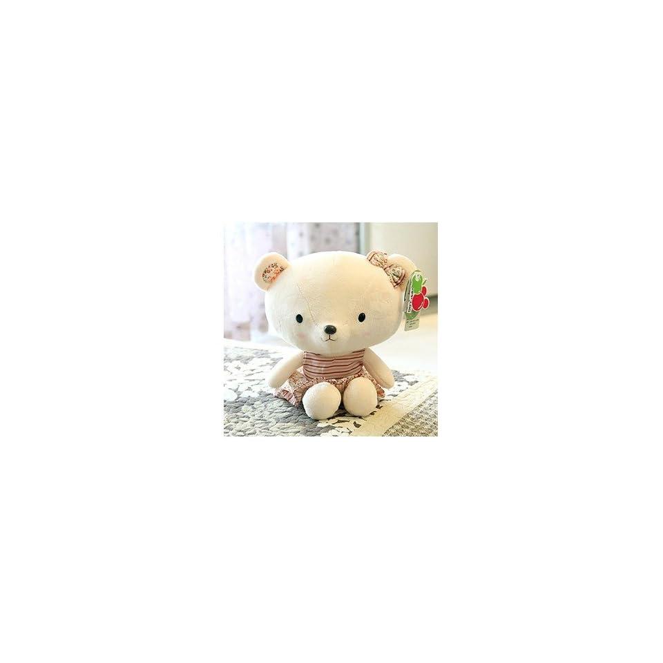 Cute Teddy Bear Plush Toy Doll Female Pastoral Style Birthday Gift for Children