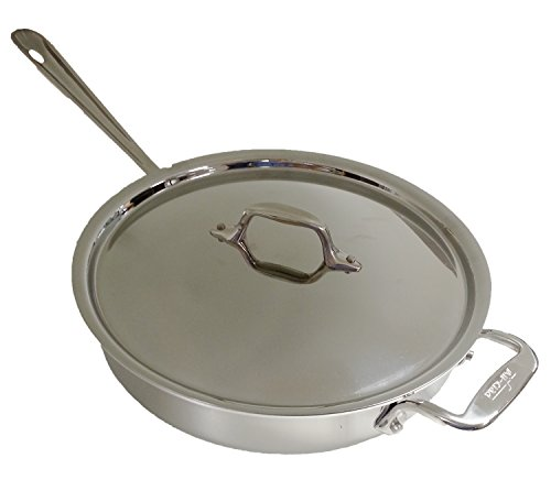 All-Clad 2014 Promo P14 4403 Stainless Steel Tri-Ply Bonded Dishwasher Safe 3-Quart Saute Pan with Lid, Silver (All Clad 3 Qt Saute Pan compare prices)