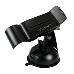 Neo Grab NEO GRAB_BK Smartphone Car Mount Holder Cradle for Samsung Galaxy S4, Note 2 and iPhone 4S/5 - Retail Packaging - Black