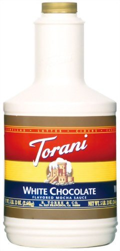 Torani White Chocolate Sauce, 64-Ounce Bottles (Pack Of 2)