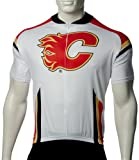 NHL Calgary Flames Men's Cycling Jersey, White, Large