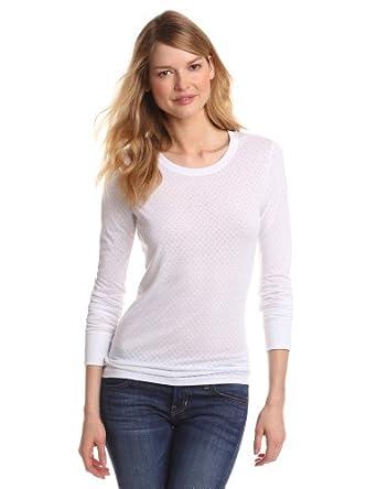 Carhartt Women's Scrubs Long Sleeve Burnout Jersey Tee, White, Medium