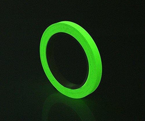 "Glow in the Dark Short Glow Photoluminescent Egress Tape 1/2"" X 15ft"