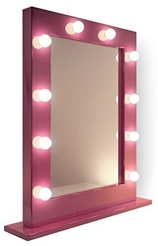 Pink Led Hollywood Make Up Theatre Dressing Room Mirror