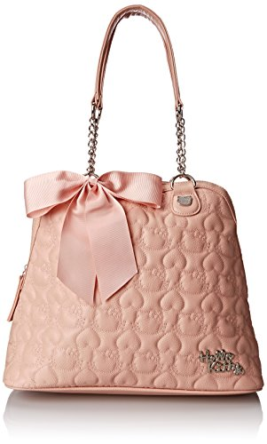 Hello Kitty HK Quilted Double Chain Handle Dome Shoulder Bag, Pink, One Size (Hello Kitty Quilted Purse compare prices)