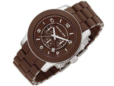 Michael Kors Steel and Brown Polyurethane Mens Watch MK8129 Wrist Watch (Wristwatch)