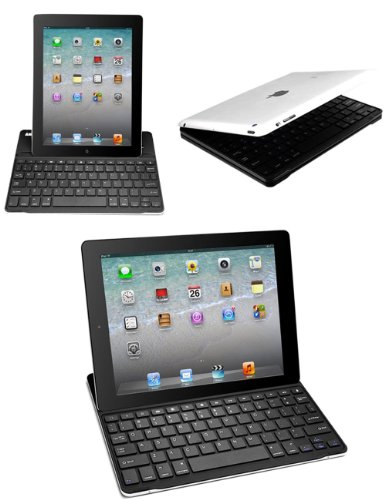 Bestek 3 In 1 Combo Ipad Bluetooth Wireless Keyboard + Ipad Stand + Ipad Case, Rechargeable With Built In Lithium Battery Btbk5016-1