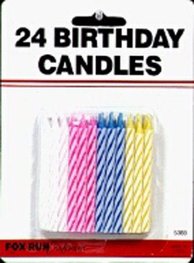 Fox Run Birthday Candle, Set of 24