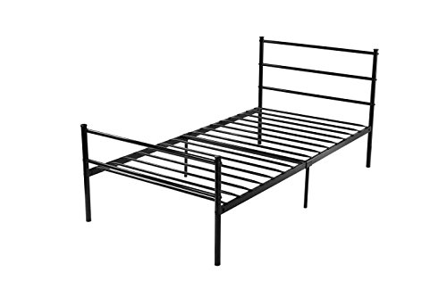 Bedroom Furniture Box Springs Mattresses Metal Frames: VECELO Platform Twin Metal Bed Frame/Mattress Foundation