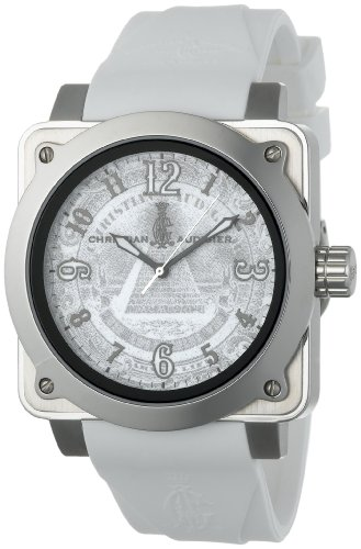 Christian Audigier Unisex For-216 Fortress Silver Dollar Stainless Steel Watch