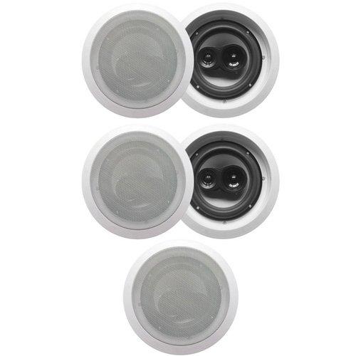 "Acoustic Audio Cs-Ic83 In Ceiling 8"" Home Theater 5 Speaker Set 3 Way 1750 Watt New Cs-Ic83-5S"