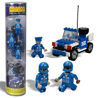 Best Lock Construction Tube Figures - Police Car