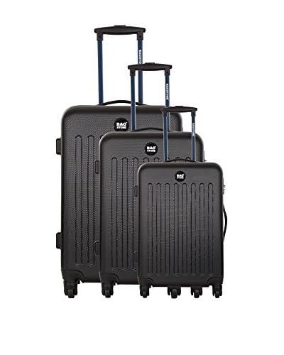 BAGSTONE Set de 3 trolleys rígidos Angel 0 cm Negro