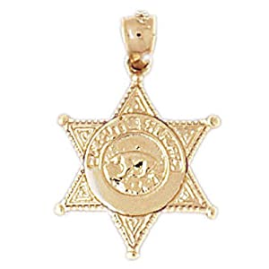 14k yellow gold 22mm los angeles sheriff s