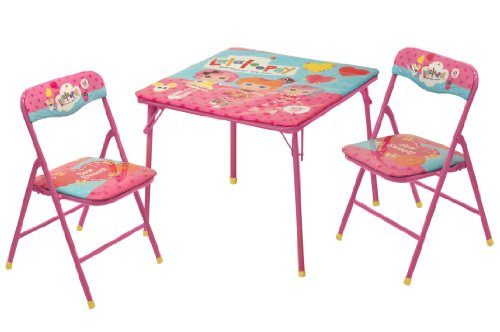 Kids Lalaloopsy Square Folding Card Table and 2 Chairs Set Reading Art Play R