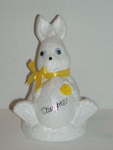 Figlia Bianco Coniglio di Pasqua Outdoor commemorativa ornamento (giallo (Easter Bunny Ornamento)