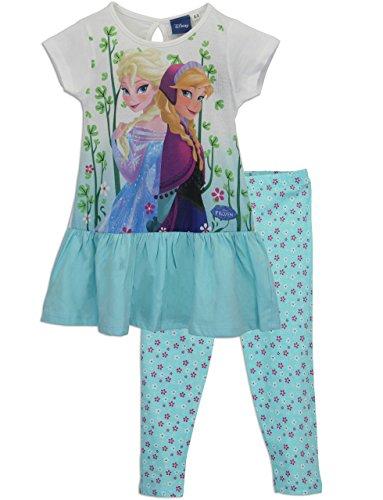 Character Mädchen Disney Die Eiskönigin Frozen T-Shirt Kurzarm und Leggings 3 Bis 4 Jahre