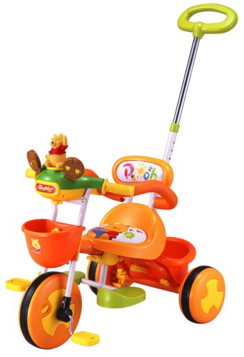 くまのプーサン かじとりトーク三輪車 オレンジ