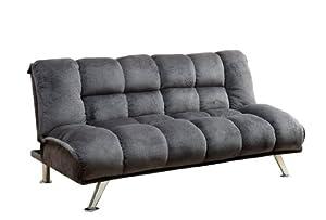 Amazon Futon Sofa Bed Sleeper Soft Flannelette Grey Grey Kitchen & Dining