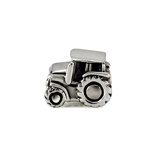 Ohm Beads Sterling Silver Tractor Bead Charm
