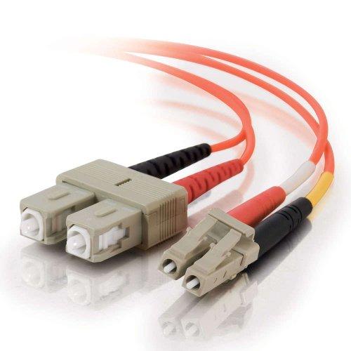 C2G / Cables To Go 33154 Lc-Sc 62.5/125 Om1 Duplex Multimode Pvc Fiber Optic Cable, Orange (1 Meter)