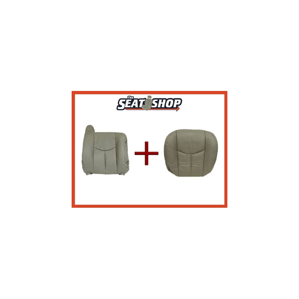 03 04 05 06 Chevy Tahoe GMC Grey Leather Seat Cover bottom & top RH