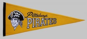 Pittsburgh Pirates Cooperstown Collection Wool Blend MLB Baseball Pennant by Winning+Streak+Sports