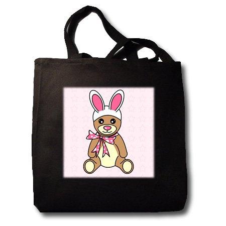 Easter Cute Easter Teddy Bear  Bunny Ears - Black