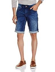 Celio Men's Cotton Shorts (3596654340700_DOKLUEBMDOUBLE STONE_86_Double Stone)