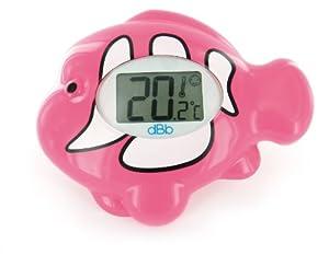 dBb Remond 341308 - Termómetro de baño electrónico con pantalla luminosa, diseño de pez, color rosa marca dBb-Remond en BebeHogar.com