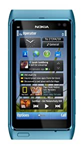 Nokia N8 Unlocked GSM Touch Screen Phone with GPS, Voice Navigation and 12MP Camera (Blue)