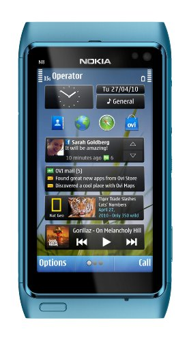 Nokia N8 Unlocked GSM Touch Screen Phone with GPS, Voice Navigation and 12MP Camera--U.S. Version with Warranty (Blue)