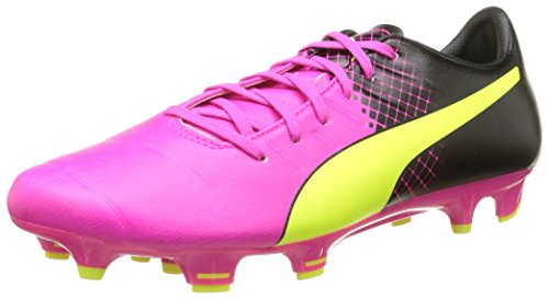 PumaevoPOWER 3.3 Tricks FG - Scarpe da Calcio Uomo , Rosa (Pink (pink glo-safety yellow-black 01)), 44